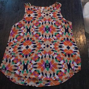 Francesca's Multicolored Patterned Sleeveless Top